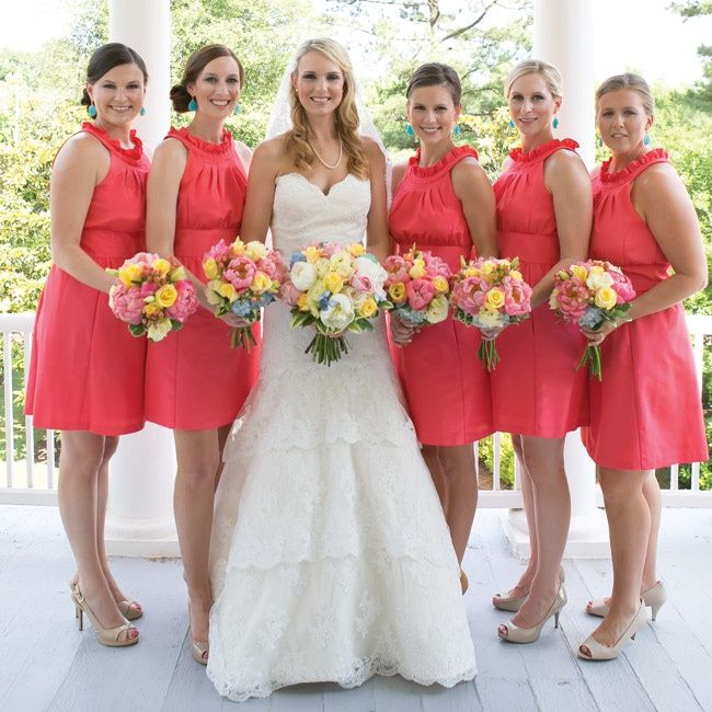 coral bridesmaid dresses coral bridesmaid dresses long