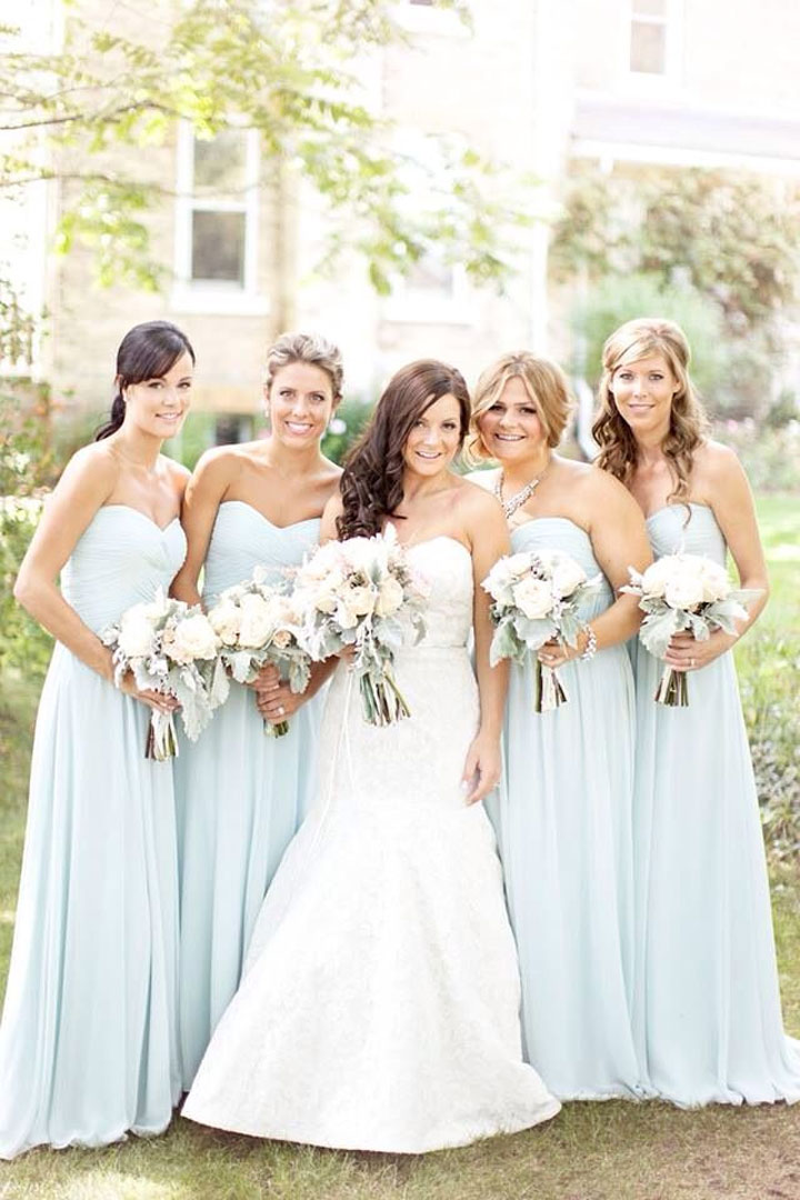 Pale Blue Bridesmaid Dresses 110