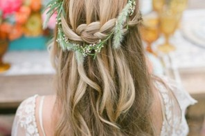wedding hairstyle,boho wedding hairstyle