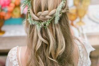 wedding hairstyle,boho wedding hairstyle
