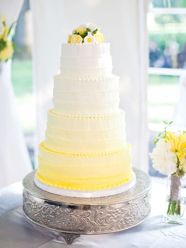 yellow and white wedding cake ideas buttercream wedding cake ideas frosting 27692