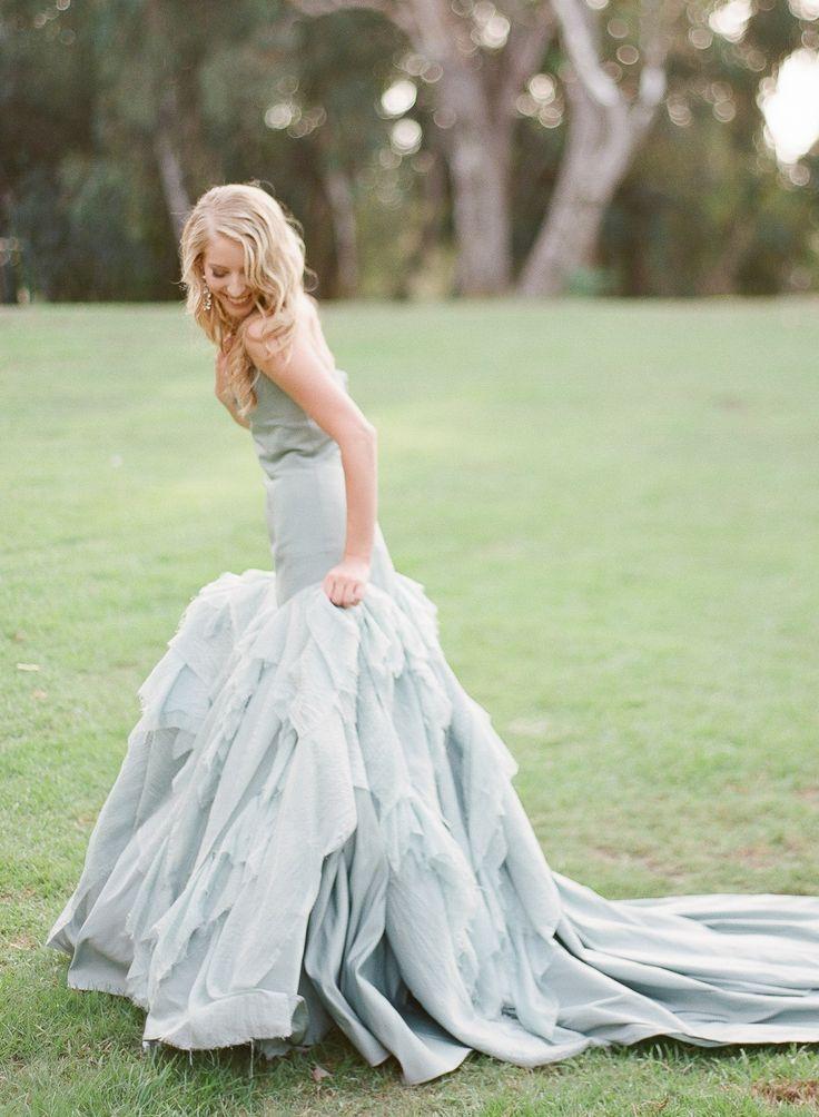 blue wedding dress,something blue wedding