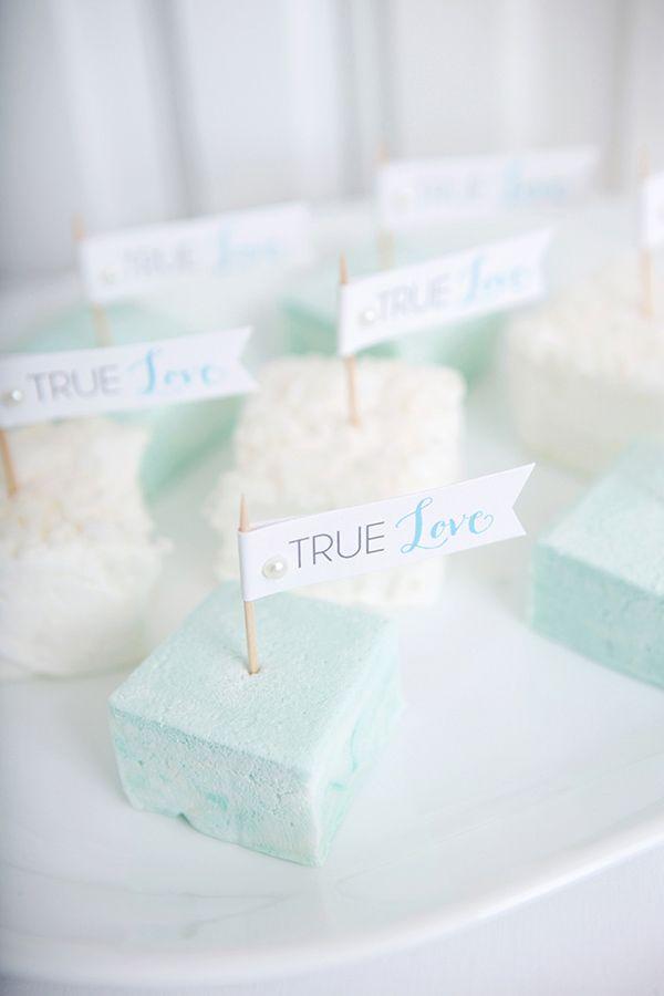 blue wedding dessert