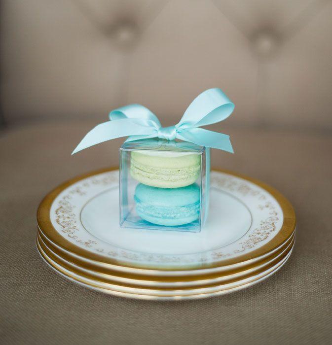 something blue wedding favours