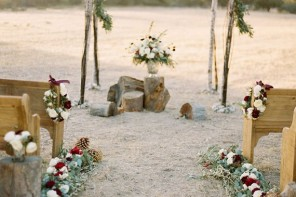 Fall winter Wedding Ceremony arch