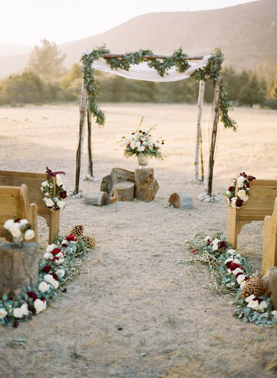 Fall  winter Wedding Ceremony arch,winter wedding ceremony