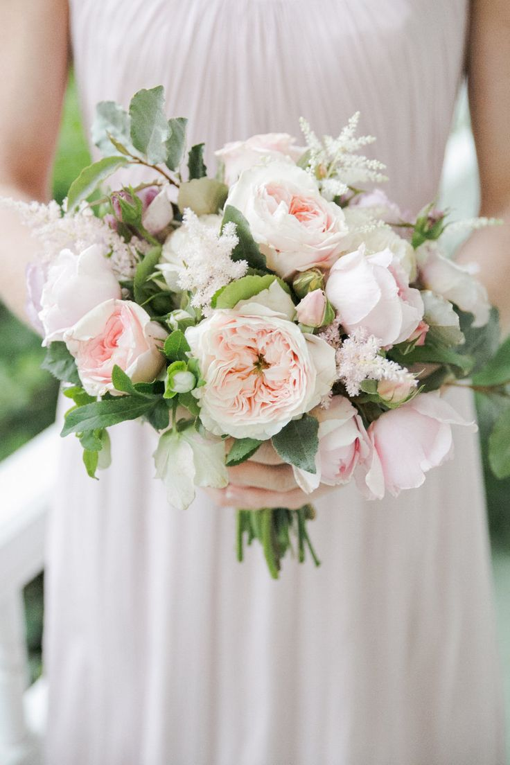 blush wedding themeblush garden rose bouquet - Blush Garden Rose Bouquet