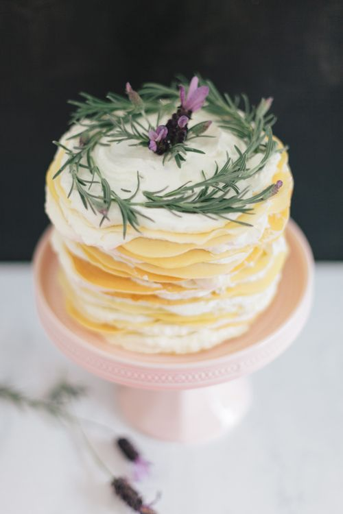Lavender and honey wedding cake