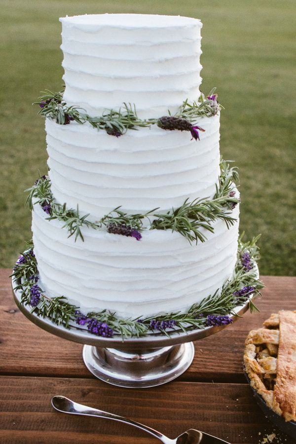 Stylemepretty Lavender And Olive Wedding Cake Bellandchic