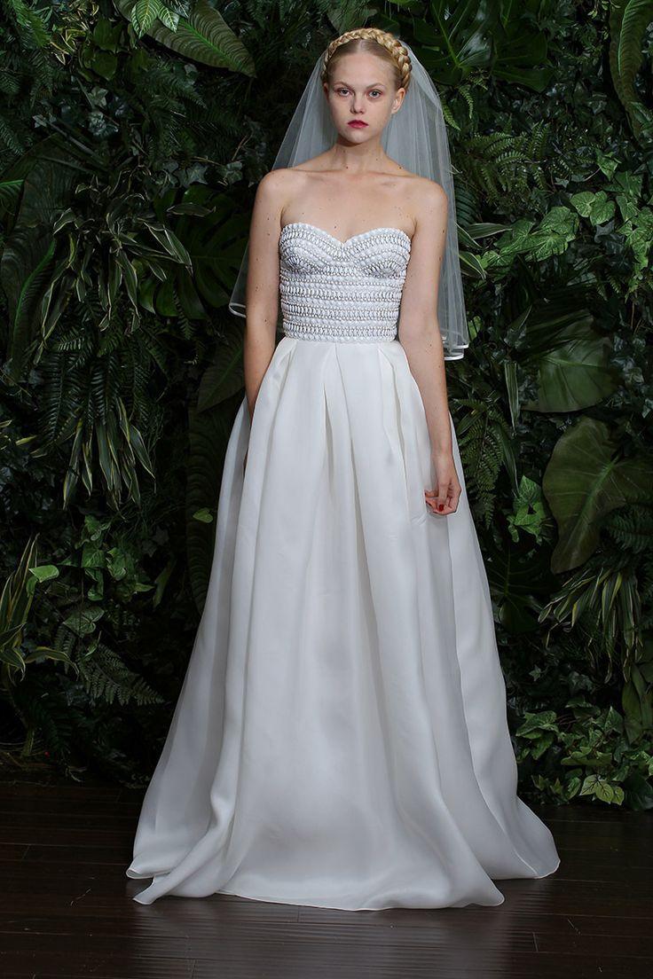 Strapless wedding dress from naeem khan for Naeem khan wedding dress