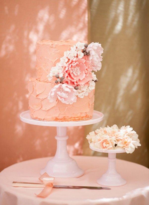 Peach Wedding Cakes Peach Wedding Cake Gallery