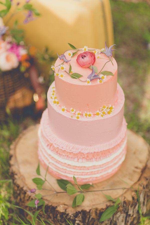 peach and blush wedding cake,peach wedding cake