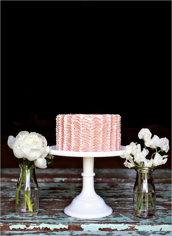peach wedding cake,peach ruffle wedding cake