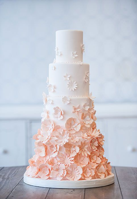 Peach Wedding Cake 1 Fab Mood Wedding Colours Wedding