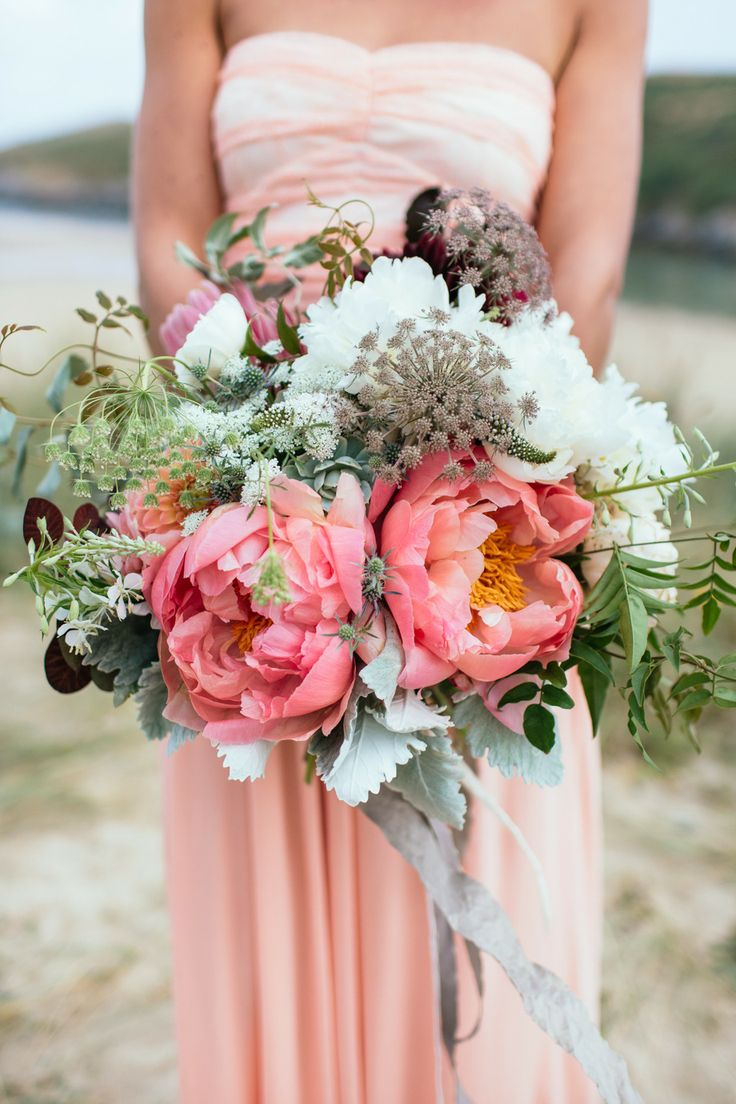 Peonies Wedding Bouquet Flowers Fuschia Peony Peony Bridal Bouquet