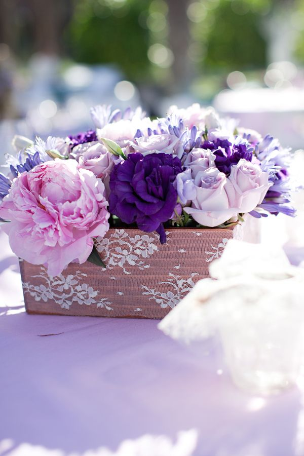 Shades of purple wedding centerpieces fab mood