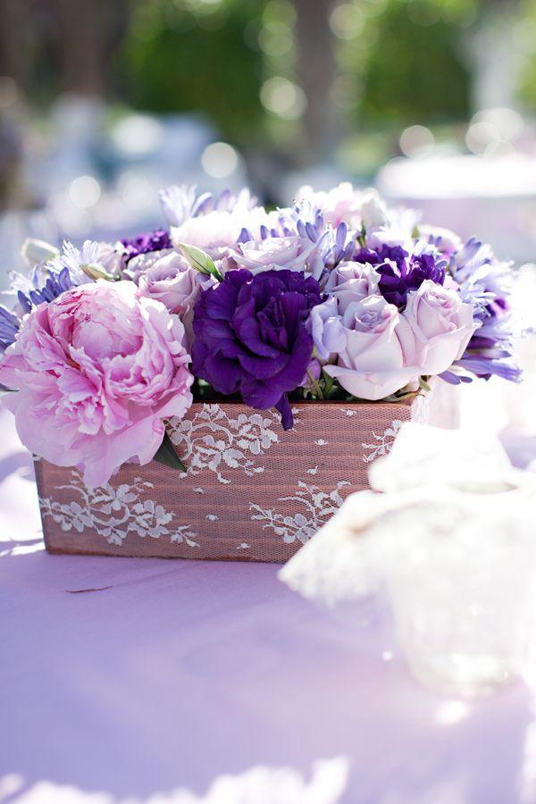 Shades Of Purple Wedding Centerpieces
