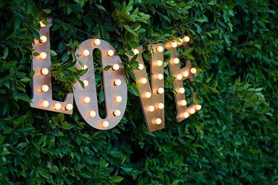 love wedding light decorations