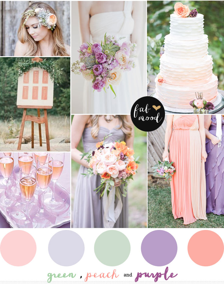 Purple green and peach wedding junglespirit Images