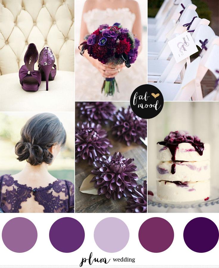 Plum Wedding Color Palette