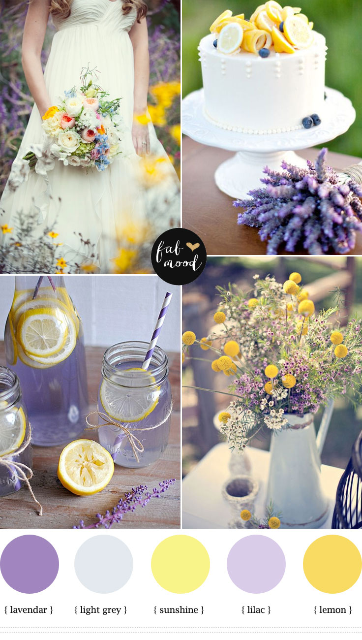 lemon lavender wedding colors palette