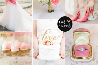 shades of pink gold wedding colors palette