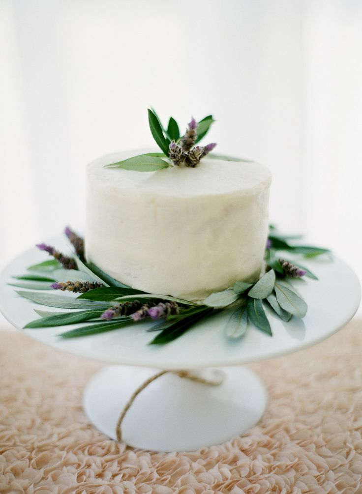 simple white wedding cake with herb,green lavender wedding,green lavender color scheme,lavender and green wedding colors,lavender green wedding colors,wedding theme