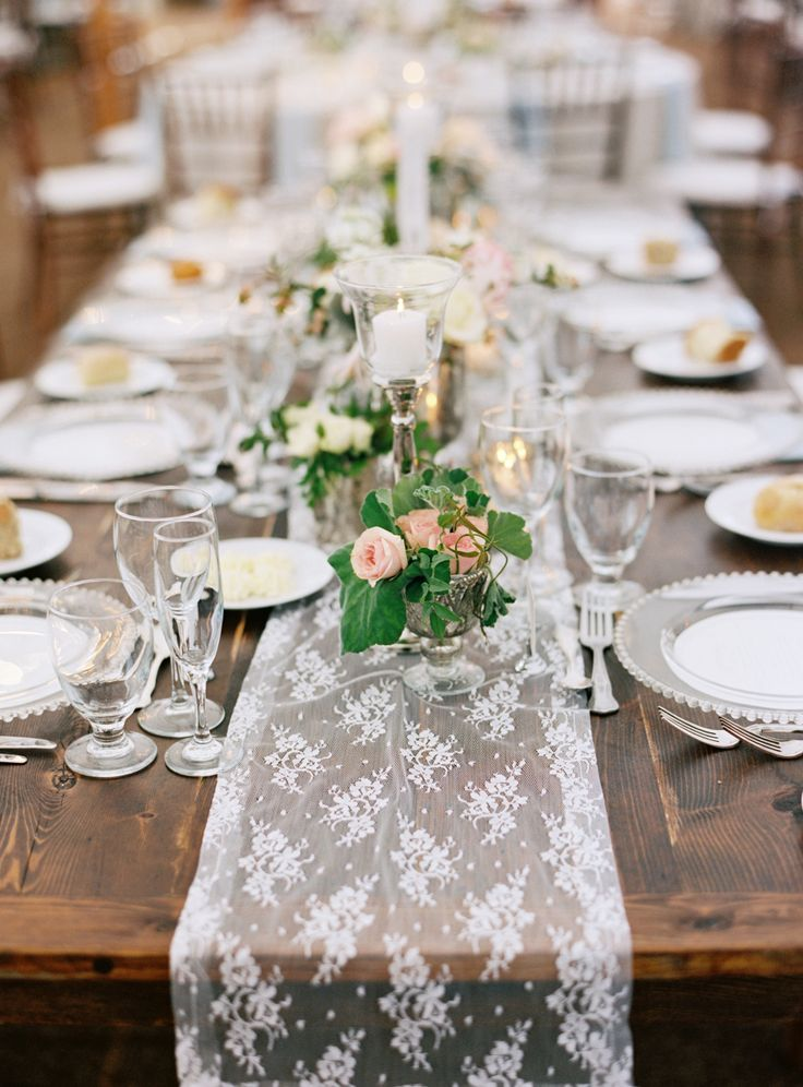 lace wedding table runner