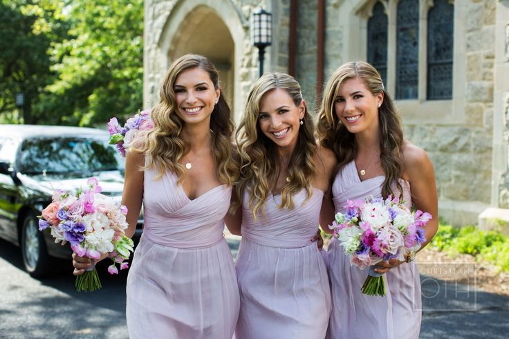 Bridesmaids Lavender Dresses Long Green And Wedding Colors Palette