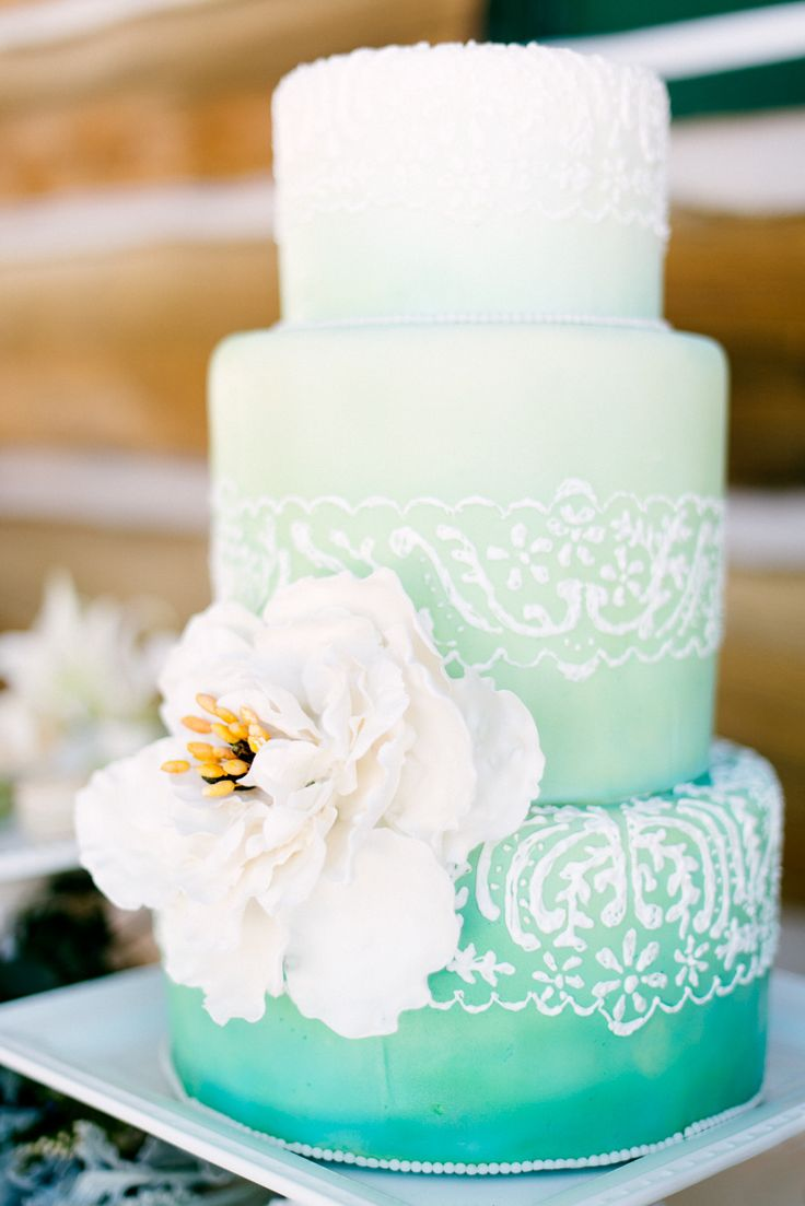 mint green ombre wedding cake green ombre wedding cake 17448