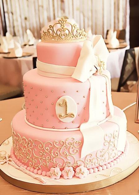 elegant pink wedding cake,pink and gold wedding cake