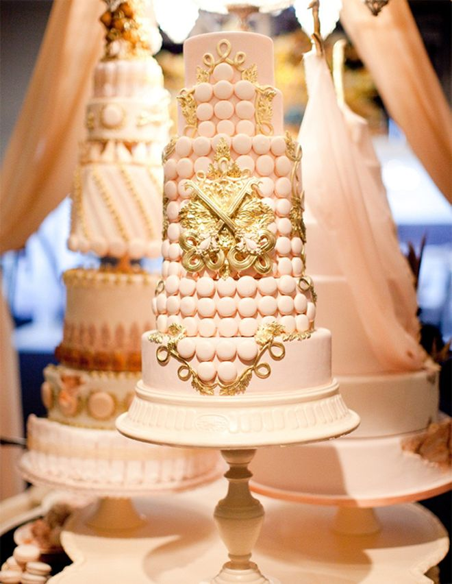 Pink and gold wedding cake traditional wedding cake mother of the