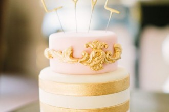 pink and gold wedding cakes,love cake topper