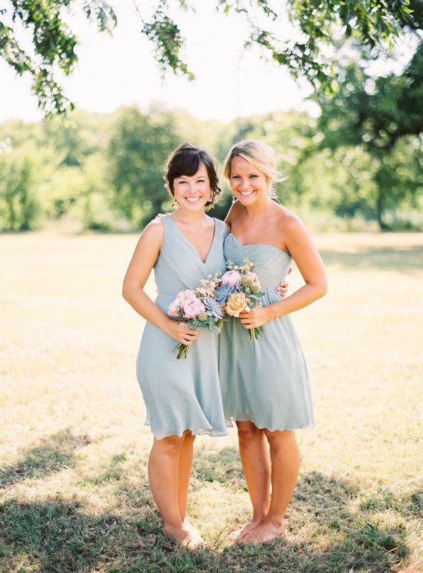 dusty blue and gold wedding palette,powder blue bridesmaids