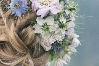 wedding updo hairstyles with blue flowers,updo wedding hairstyles with flower,wedding hairstyles,updos wedding hair