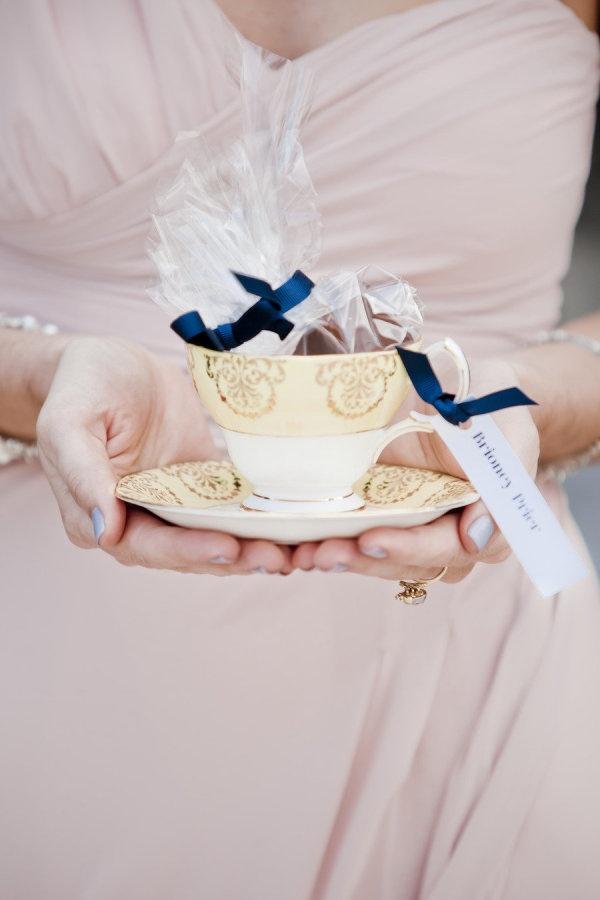 Tea cup wedding favour