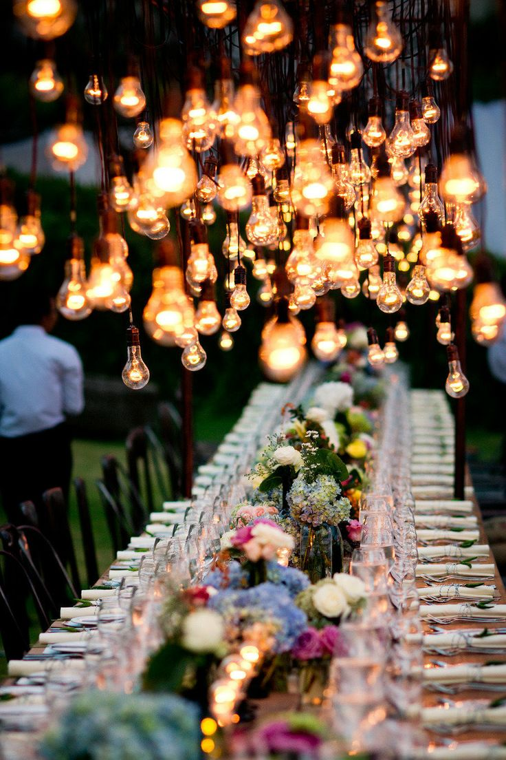 wedding decorations with light