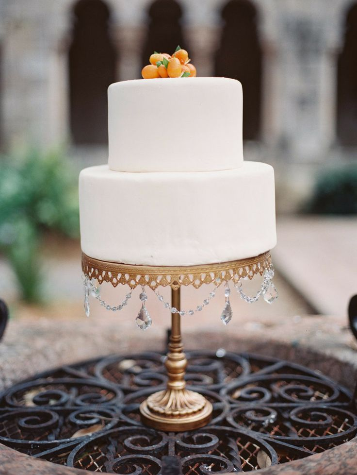 Black White And Orange Wedding Cakes