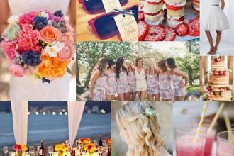 summer wedidng palette,summer wedding ideas,Cotswold Frock Shop mood board,summer wedding mood board