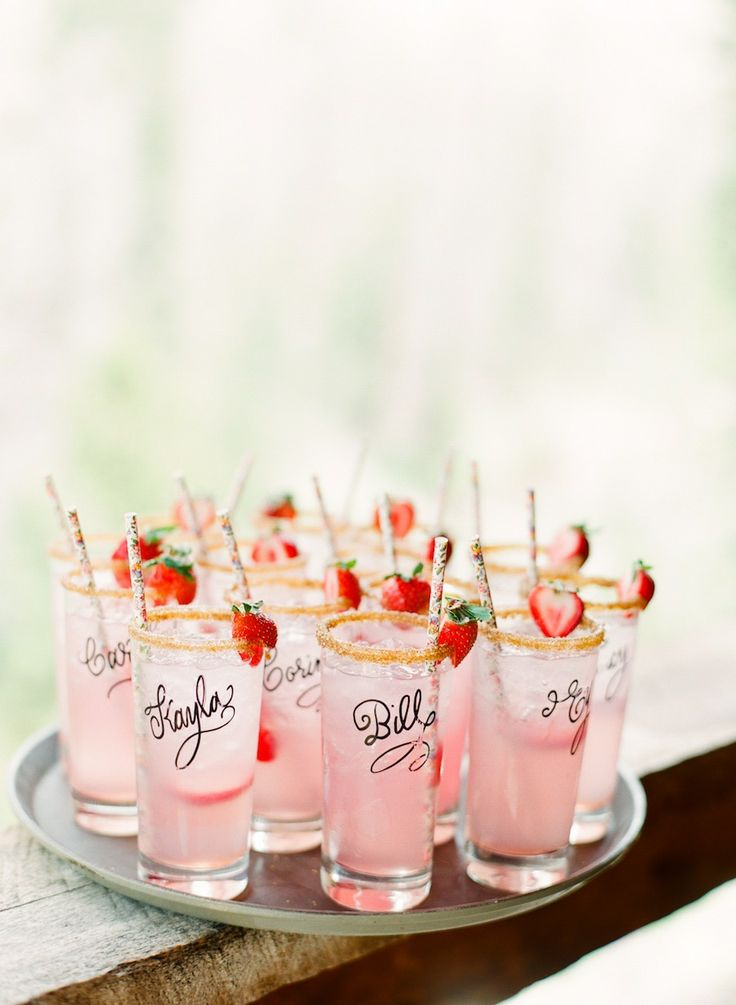 summer wedding drinks ideas cocktail hour