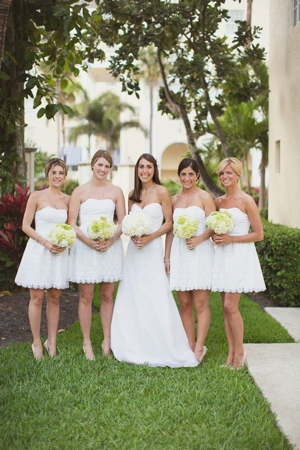 short white bridesmaid dresses | fabmood.com