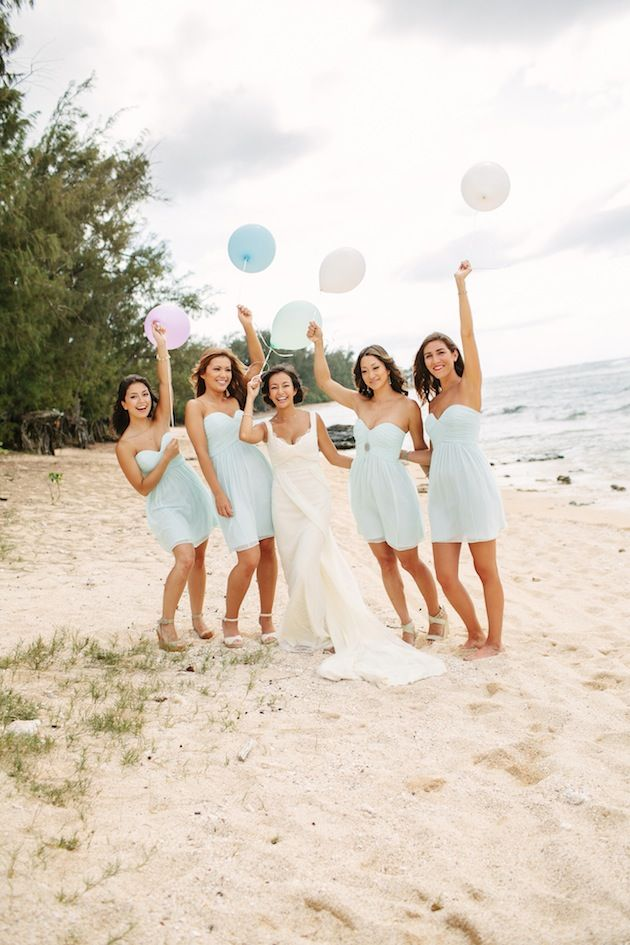 Beach Bridesmaids Bridesmaids Beach Wedding