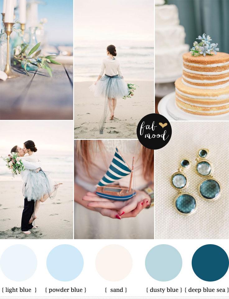 Beach Wedding Ideas Dusty Blue Beach Wedding