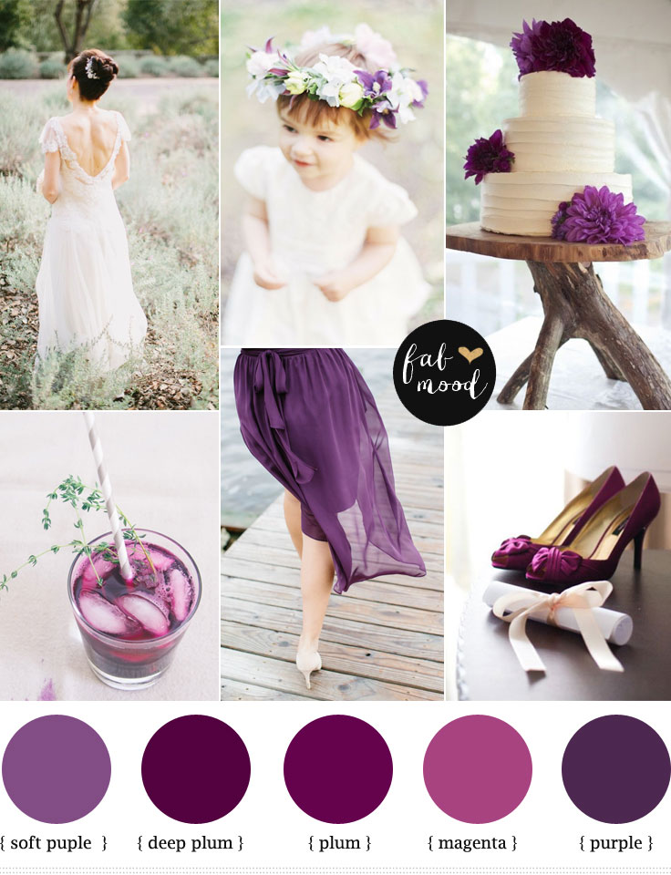 Plum Purple Wedding Colours Wedding Inspiration