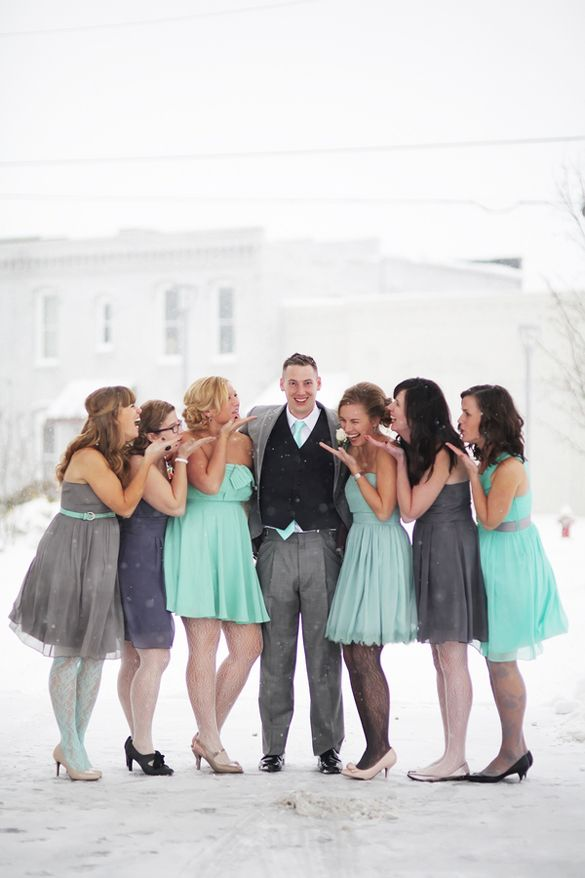 Mint And Grey Wedding Colors Gray