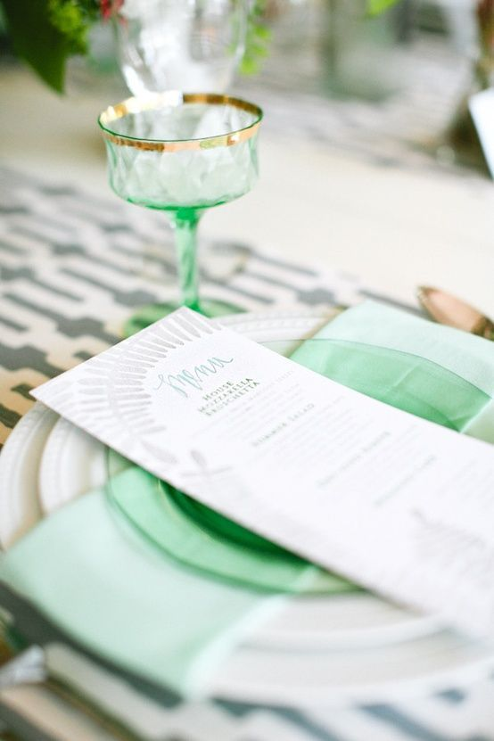 Mint And Grey Wedding Colours