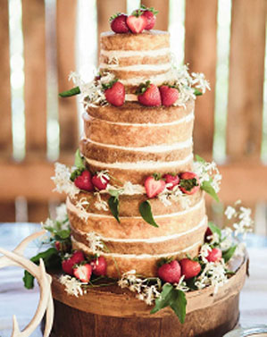 naked wedding cake,rustic wedding cake,simple wedding cake,sponge wedding cake
