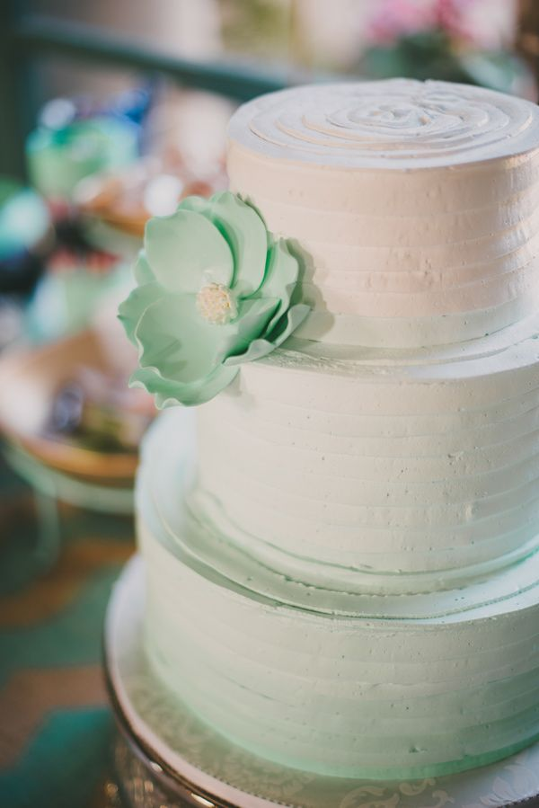 Three tier Mint Ombre Buttercream wedding cake | fabmood.com #weddingcake #cake #simplecake #buttercreamweddingcake