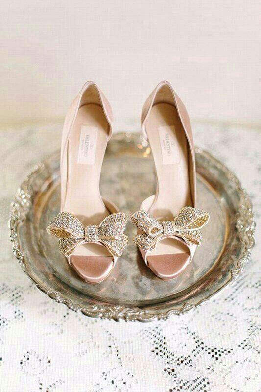 Valentino Wedding Heels   via letsmakeitmine.com