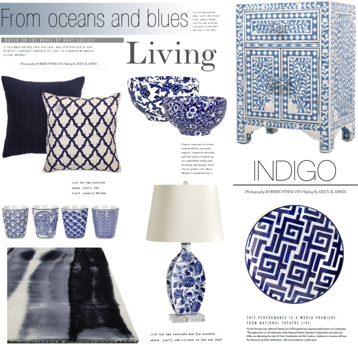 Home Decor Colour Palettes Mood Indigo Blue Home Decor Indigo Blue Home Accessories